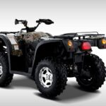 Hisun Forge 700cc ATV Green Camo Rear