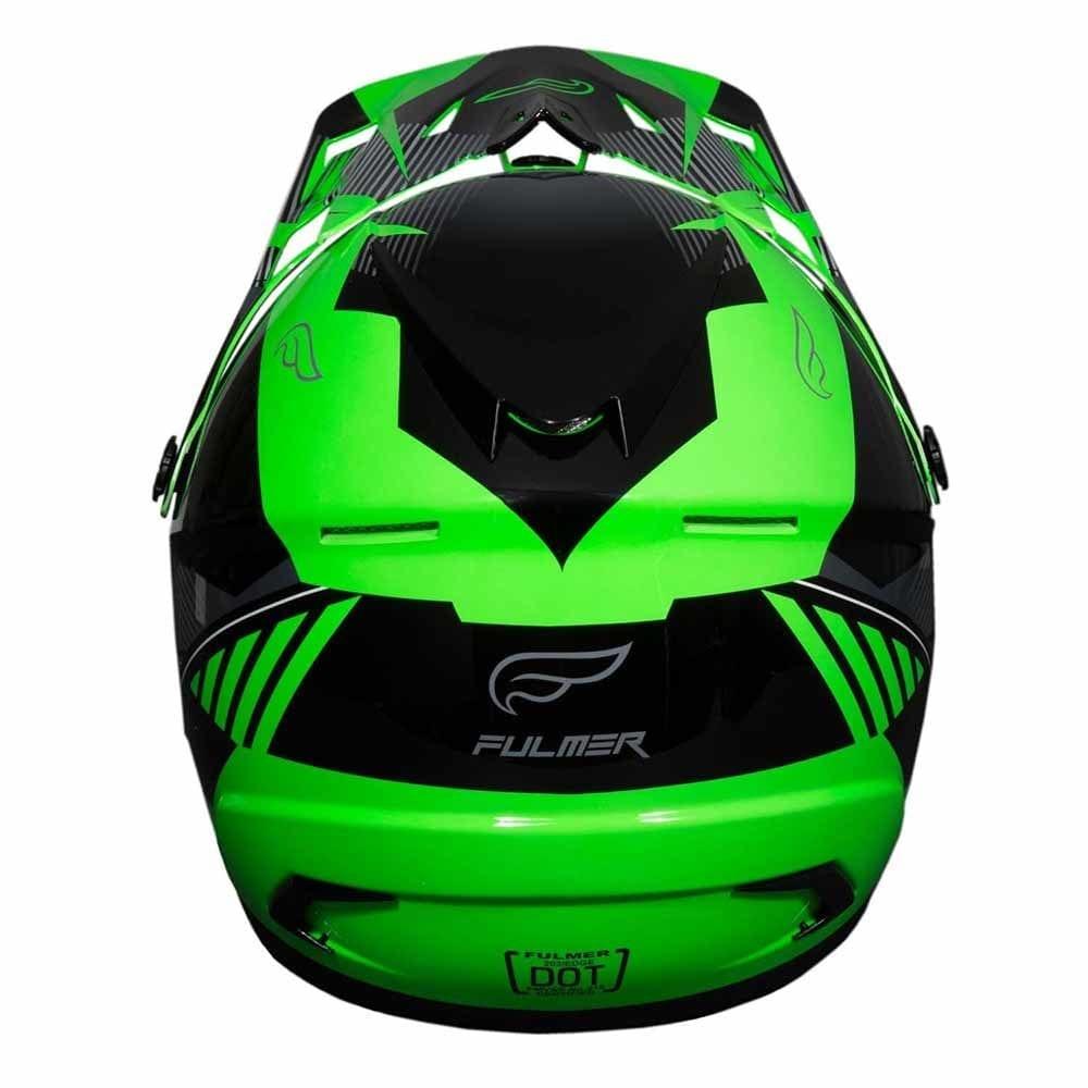 Fulmer 202 Edge Motocross Helmet - Green