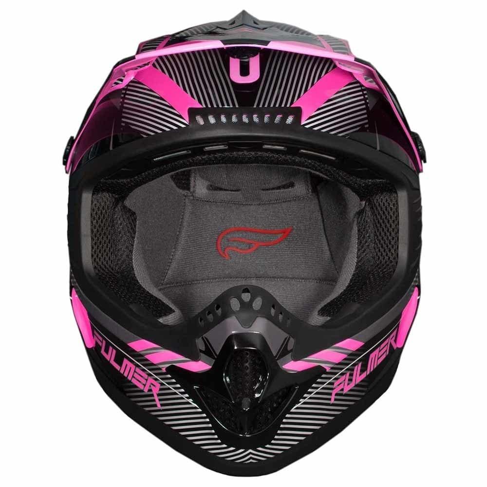Fulmer 202 Edge Motocross Helmet - Pink